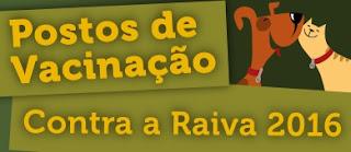 vacinação antirrábica 2016 - Rio