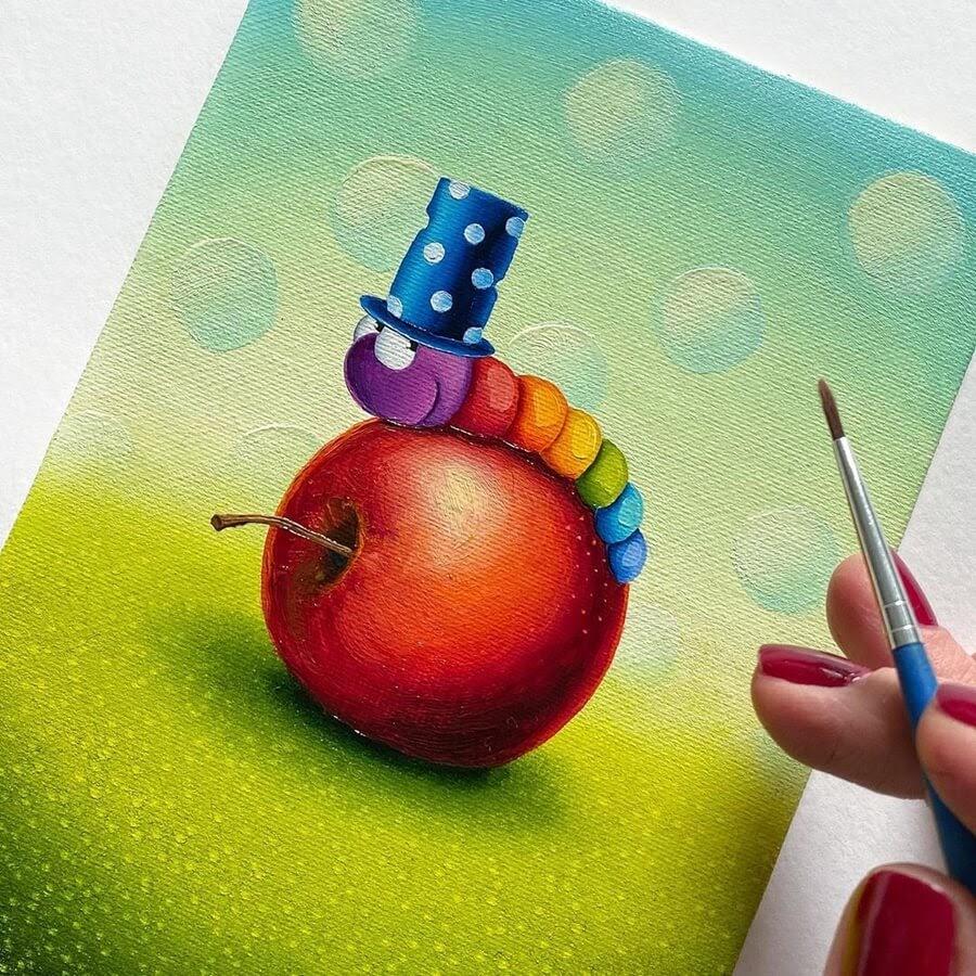 12-Rainbow-Worm-Gabriela-Elgaafary-www-designstack-co