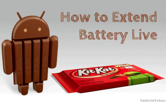 Cara Menghemat Baterai Android KITKAT