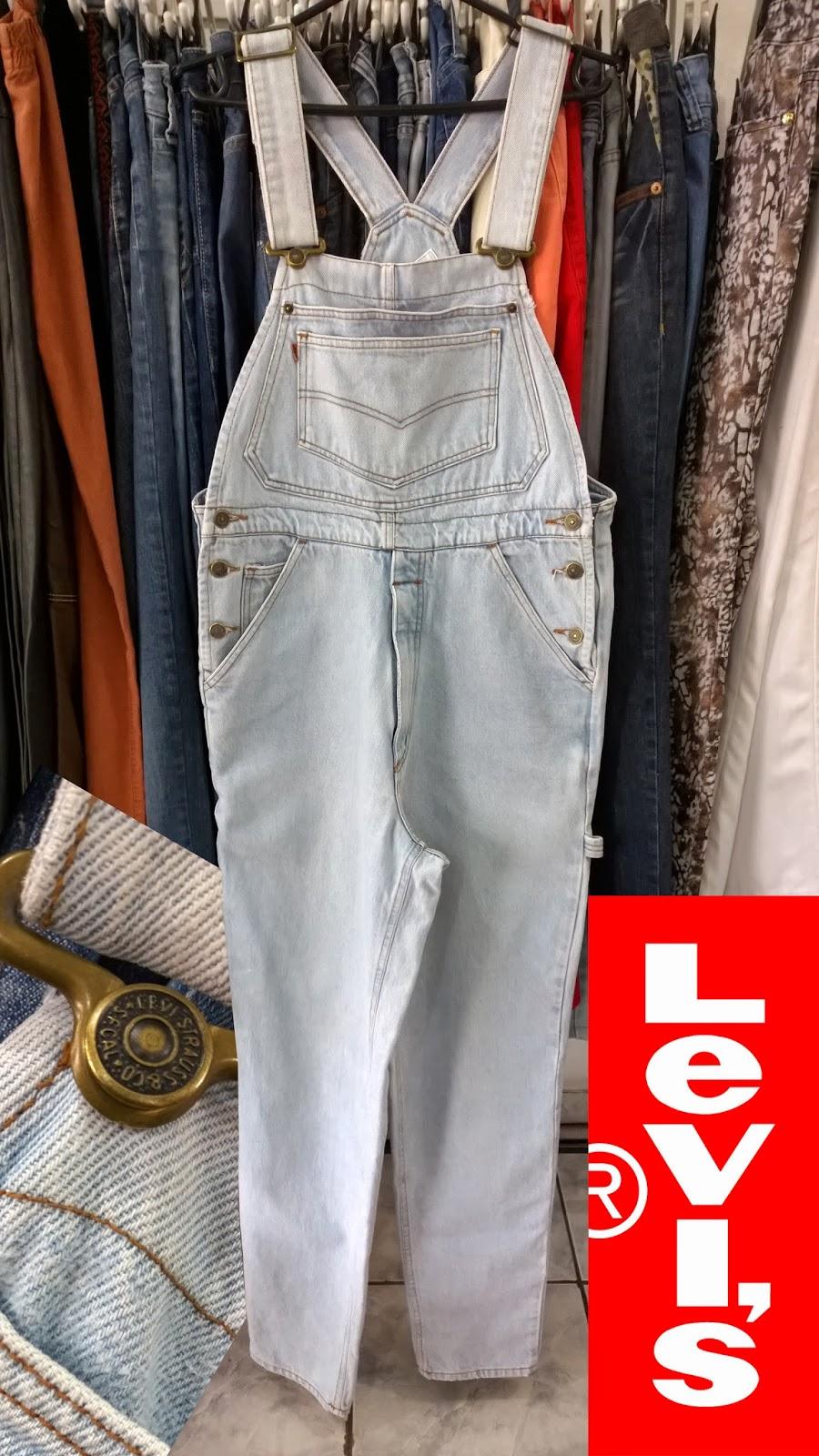 81f60a5b85f77 Moda de Lari  Macacão Jeans Masculino LEVI S Original Usado   VENDIDO