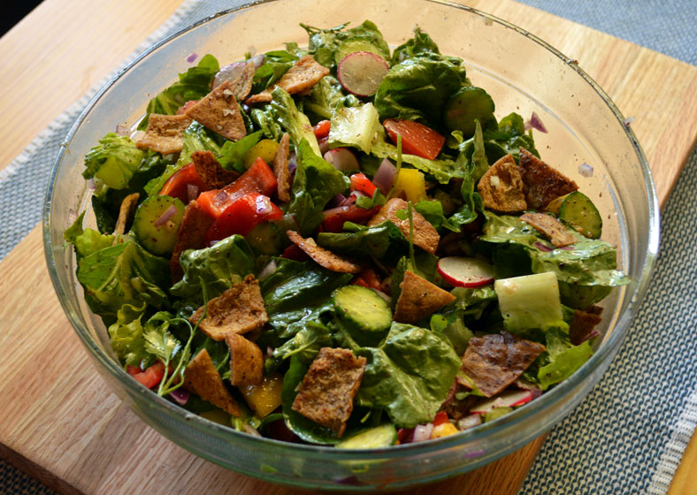 Fattoush Salad Traditional Ramadan Food