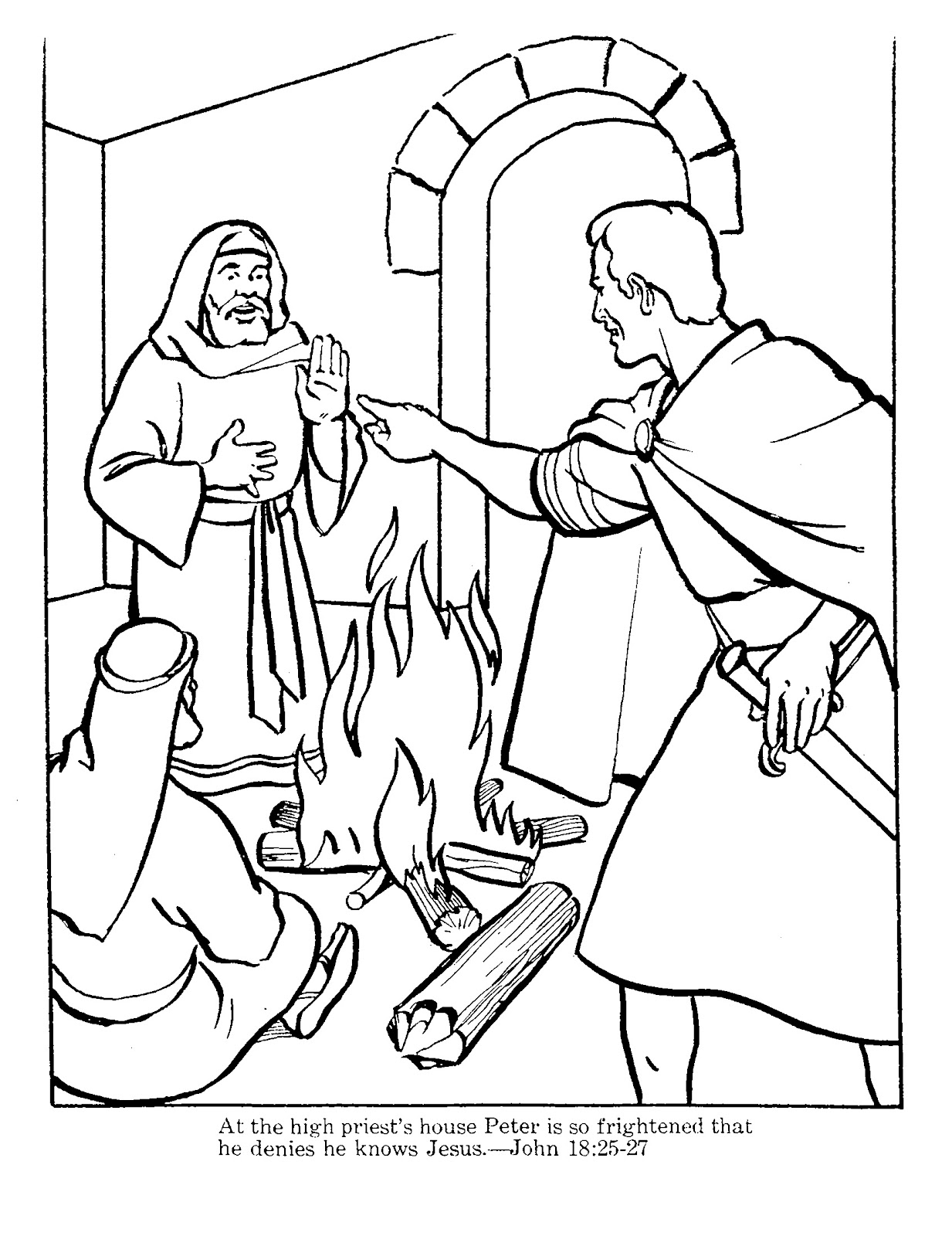 peter denies jesus coloring pages | The Wall: Peter