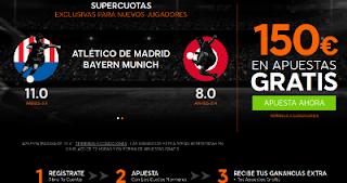 888sport bienvenida 150 euros + supercuota 11 o 8 Atletico o Bayern gana champions 28 septiembre