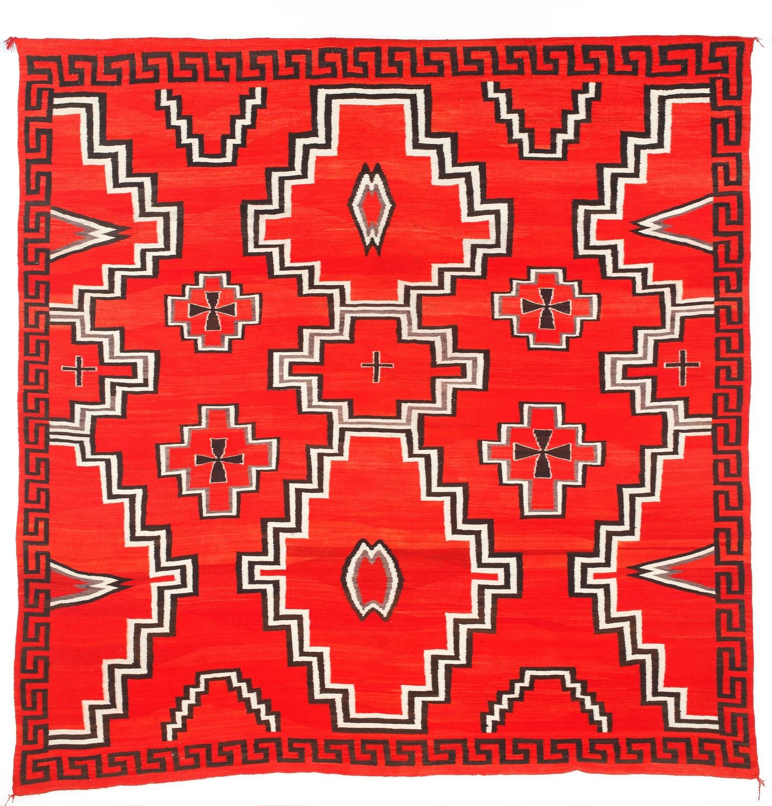 Navajo  Early Ganado Rug  circa 1900  handspunNavajo Art