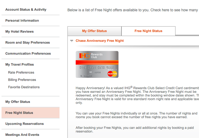 All the Right Points: Booking IHG Free Nights