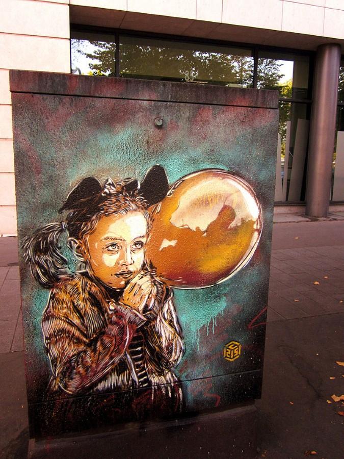 Уличное искусство Кристиана Гуеми (Christian Guémy aka C215) 59