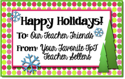 Happy Holidays from your favorite TpT sellers! www.traceeorman.com