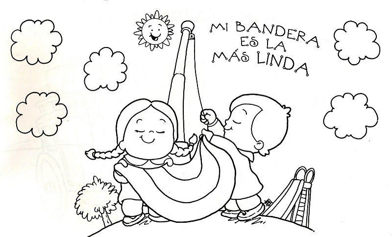 El rincon de la infancia: Dibujos Del día de la Bandera para pintar