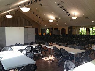 Open faith formation classroom setting