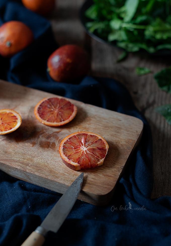 Ensalada de espinacas y naranjas sanguinas receta