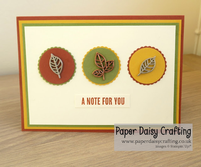 Autumn card with Stampin Up