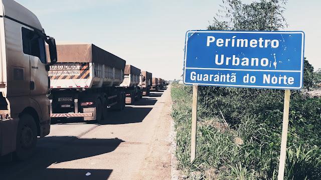 Resultado de imagem para greve dos caminhoneiros em guarantã do norte
