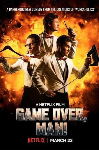 Game Over Man 2018 English 720p WEBRip 800MB ESubs