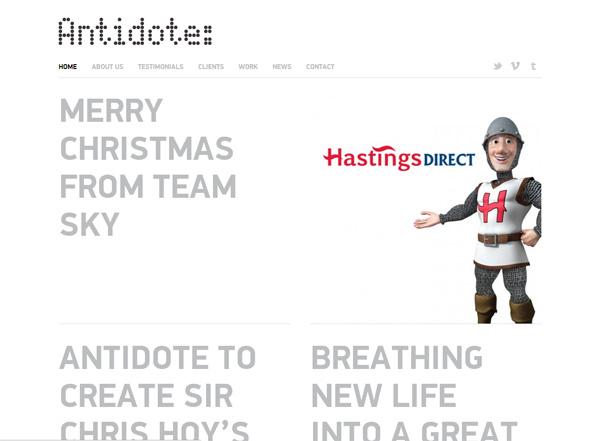 Antidote - Desain Web Keren