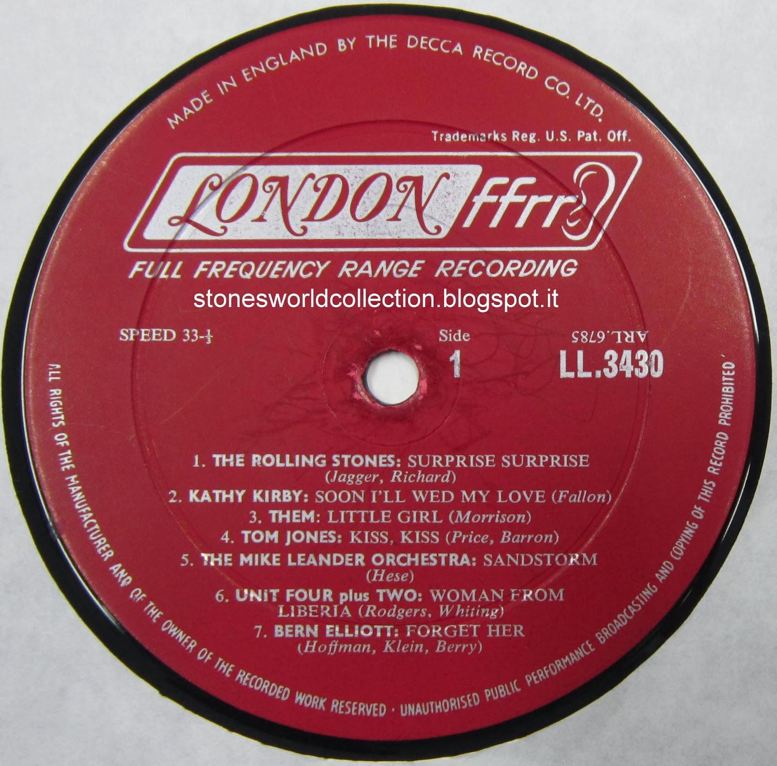 Music Original 1 X Us Decca Records Company Sleeve One New York