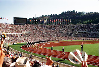 The parade of athletes at the opening ceremony of the 1960 Olympics at the Stadio Olimpico