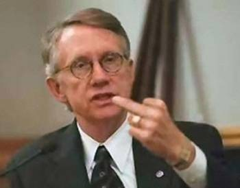 Image result for small picture of harry reid flipping the bird
