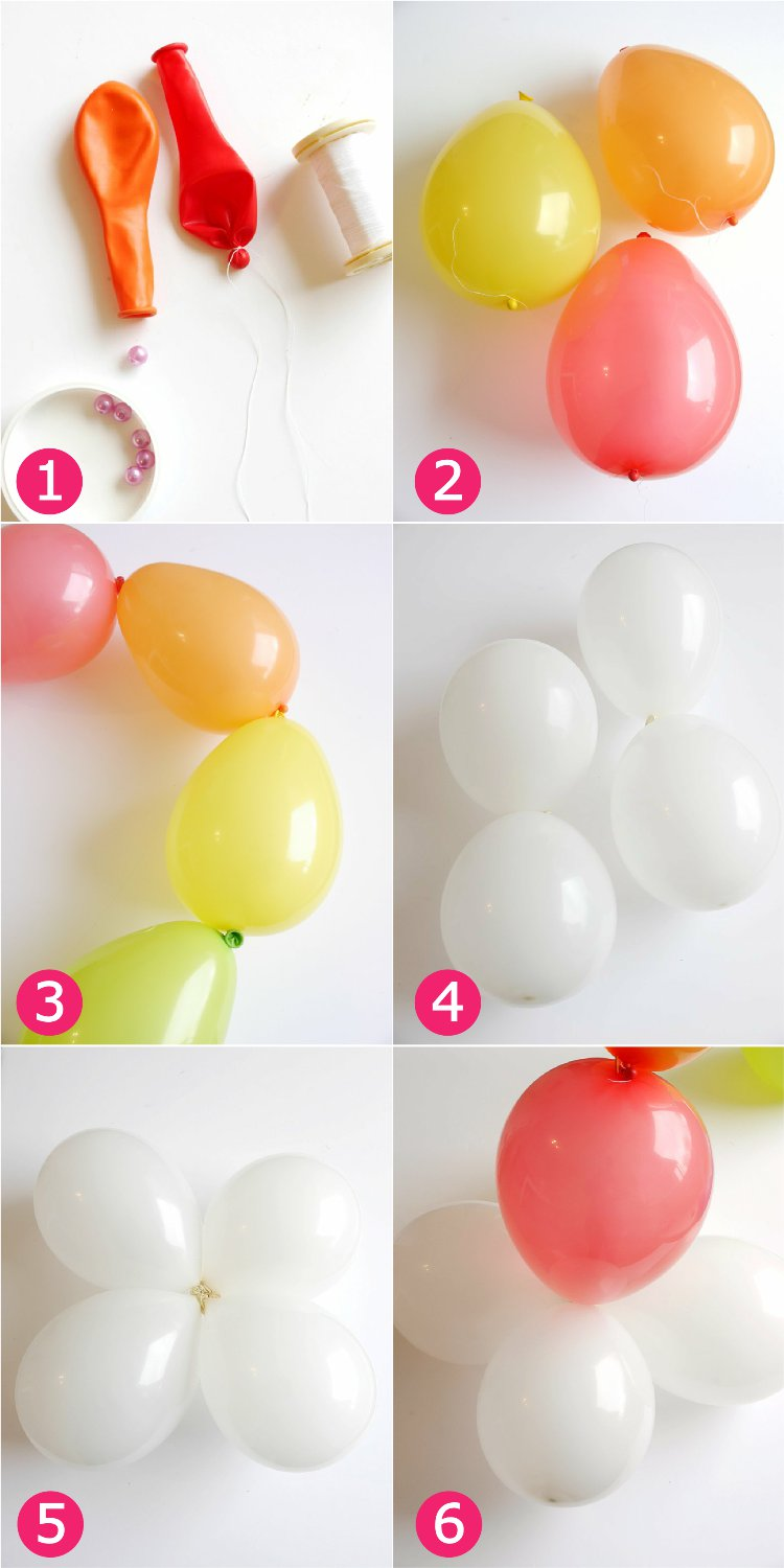 Diy easy rainbow balloon arch party ideas party printables for Balloon decoration ideas no helium