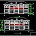 مشروع منزل سكني بسيط من الطراز القديم اتوكاد dwg