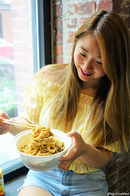 Steph at Very Fresh Noodles in New York City