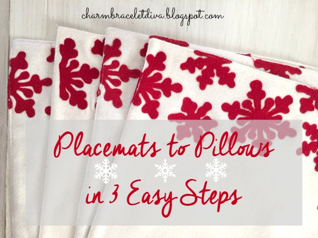 DIY Christmas Pillows Made From Target Placemats
