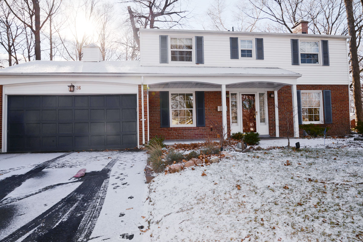 1960's colonial, brick and siding colonial, colonial house, colonial renovation