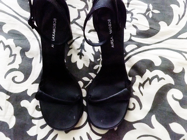 designer thrift haul, bcbg max azria, thrifted designer shoes