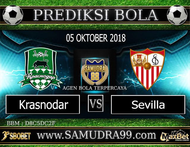 PREDIKSI TEBAK SKOR JITU KRASNODAR VS SEVILLA 05 OKTOBER 2018