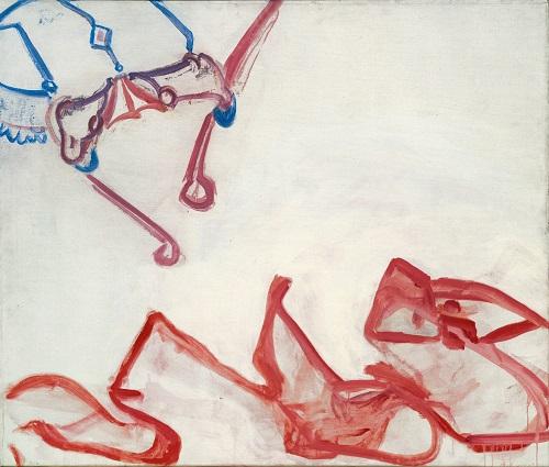by Maria Lassnig - La minaccia - 1961-62