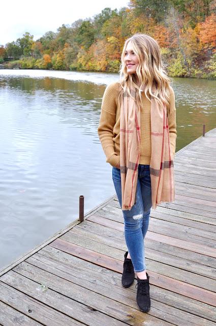 fall fashion at the lake