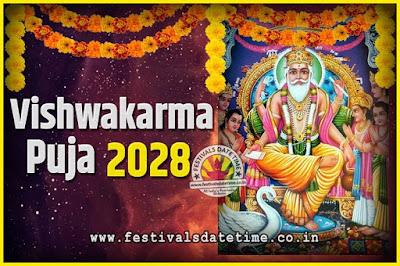 2028 Vishwakarma Puja Date and Time, 2028 Vishwakarma Puja Calendar