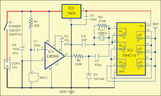 Wireless Baby Monitor Circuit Project