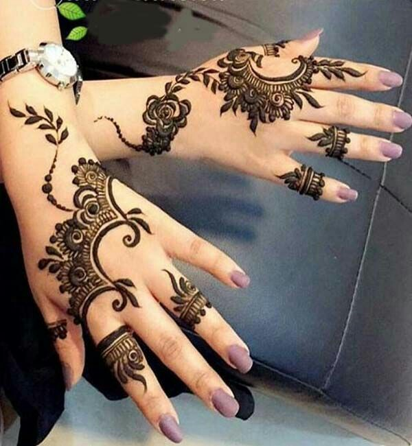 Simple And Easy Arabic Mehndi Designs For Hands Beginner