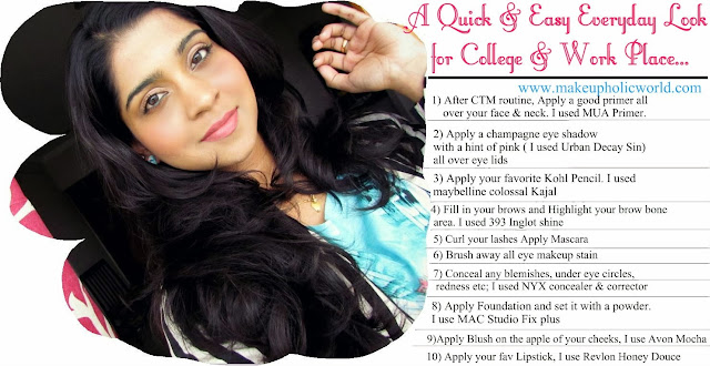 Easy Everyday Makeup for College & Workplace!!