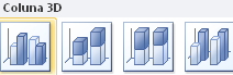Como criar gráficos 3D de colunas no Excel