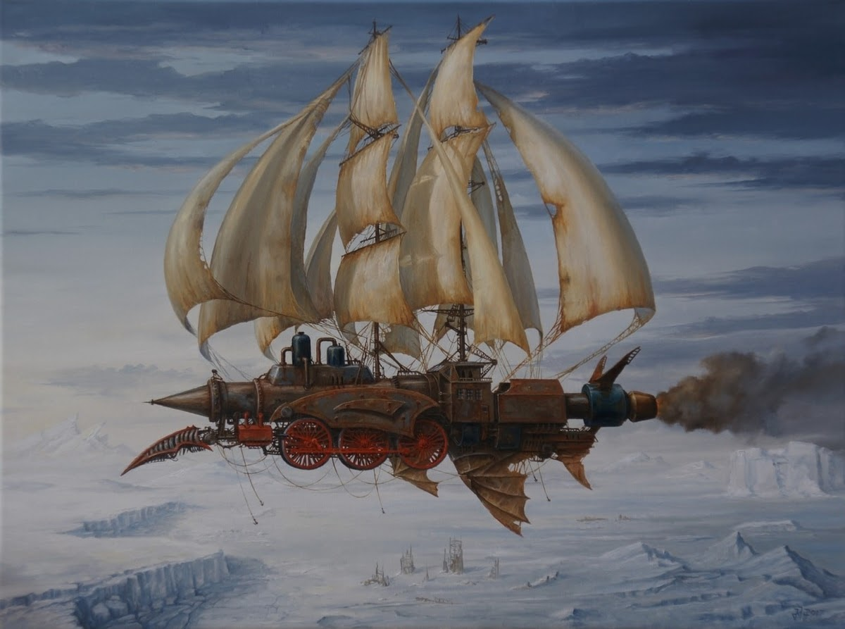 12-Ice-Blast-Jarosław-Jaśnikowski-Paintings-of-Flying-Machines-and-Architectural-Surrealism-www-designstack-co
