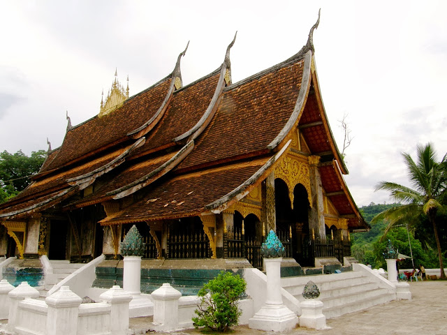 Old temples in Luang Prabang, Laos