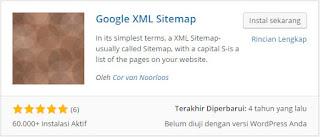 cara instal Google xml sitemap wordpress plugin