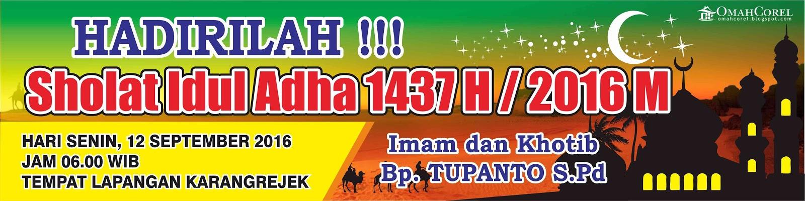 Download Desain Spanduk Hari Raya Idul Adha Vektor Cdr