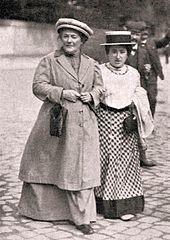 Clara Zetkin (left) and Rosa Luxemburg (right), 1910