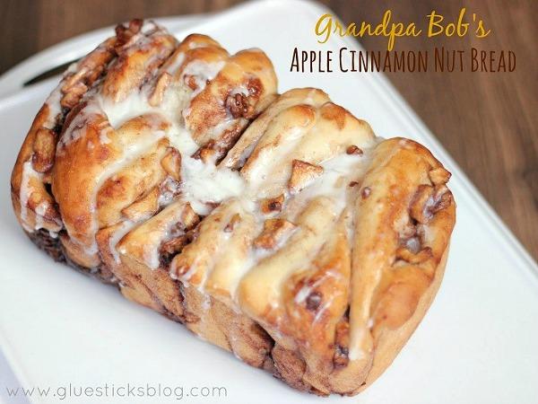 Grandpa Bob's Apple Cinnamon Nut Bread from Gluesticks Blog