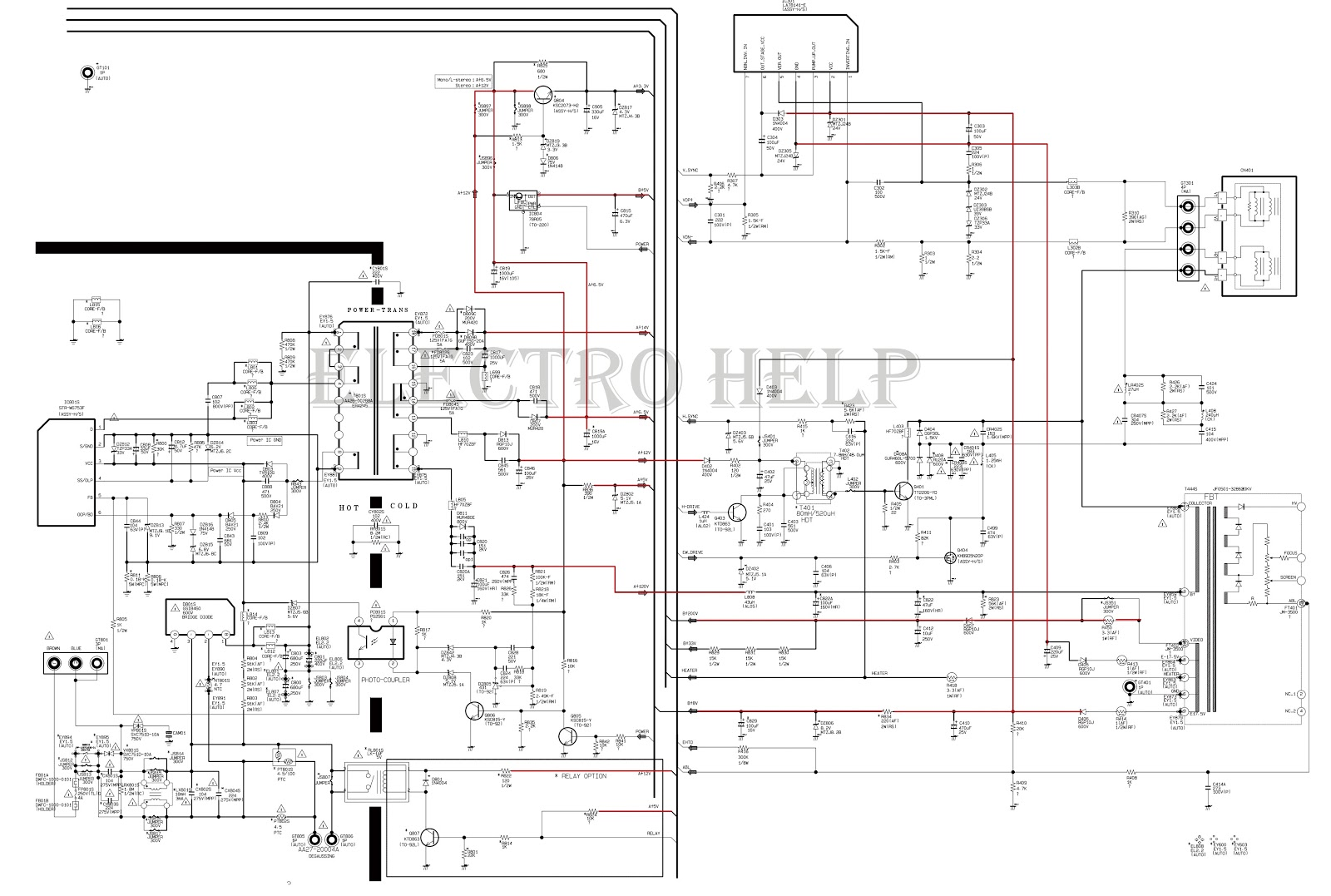 samsung tv schematic diagram electronics repair and
