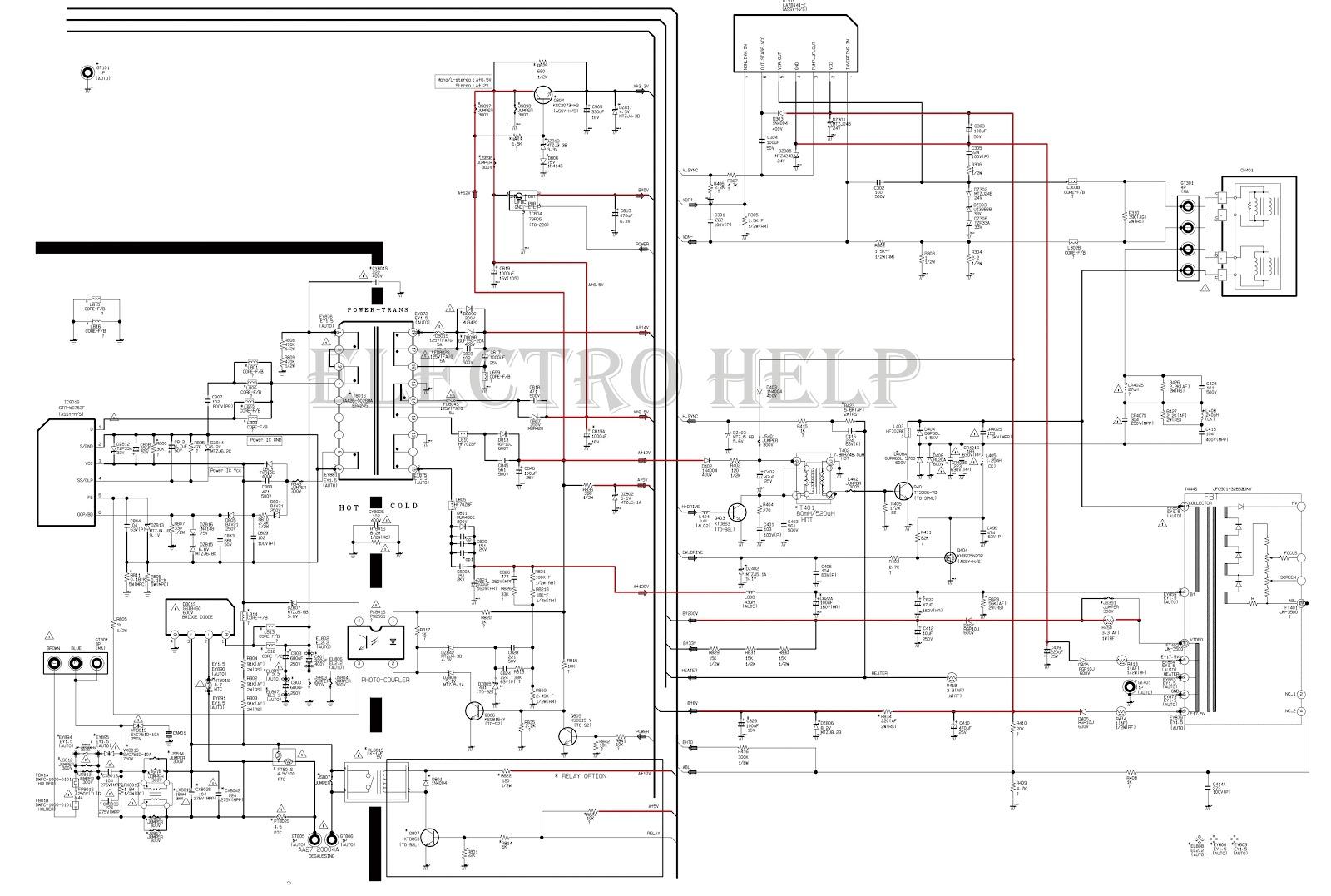 Electro Help Cl21a551 Samsung Crt Tv Circuit Diagram