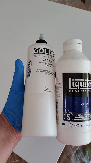 Prepping Canvas with Liquitex Gesso and GAC100