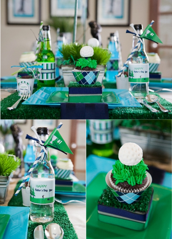 Father's Day Party Ideas | A Green Blue Argyle Golf PAR-Tee