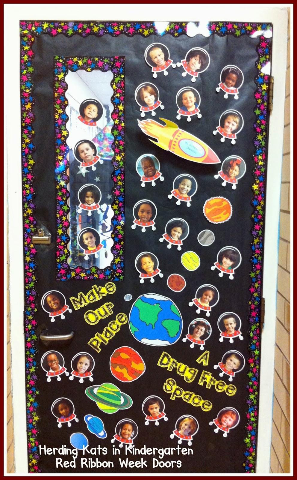 Herding Kats in Kindergarten: Red Ribbon Week Doors!