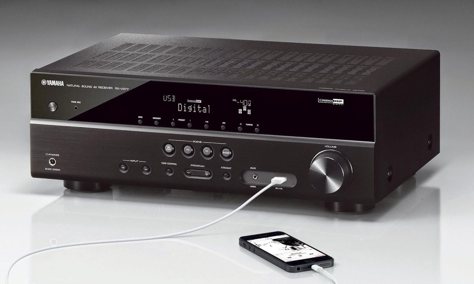yamaha rx v377 av receiver audiobaza. Black Bedroom Furniture Sets. Home Design Ideas