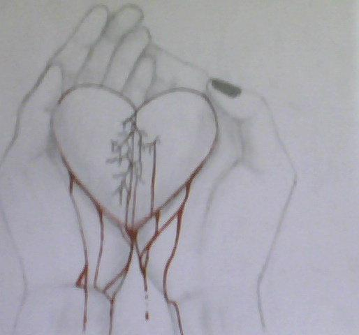 Pictures Of Hand Holding Broken Heart Drawing Rock Cafe