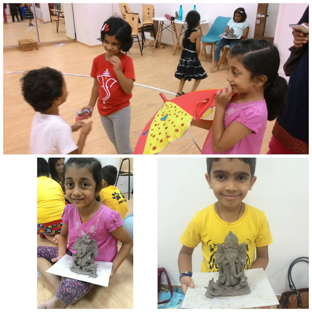 Kids offline bonding & showing off their Creations :)