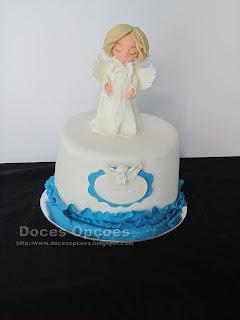Bolo de Baptizado anjo bragança
